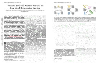 Variational Structured Attention Networks for Deep Visual Representation Learning