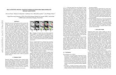 Self-Attentive Spatial Adaptive Normalization for Cross-Modality Domain Adaptation