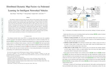 Distributed Dynamic Map Fusion via Federated Learning for Intelligent Networked Vehicles