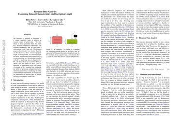 Rissanen Data Analysis: Examining Dataset Characteristics via Description Length