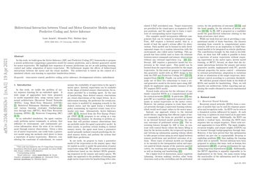 Bidirectional Interaction between Visual and Motor Generative Models using Predictive Coding and Active Inference