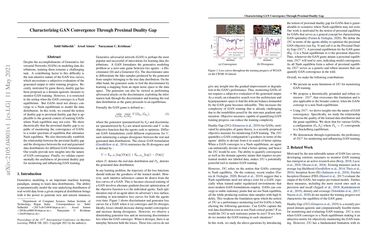 Characterizing GAN Convergence Through Proximal Duality Gap