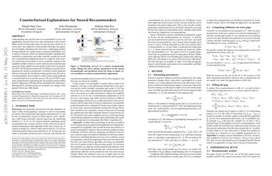 Counterfactual Explanations for Neural Recommenders