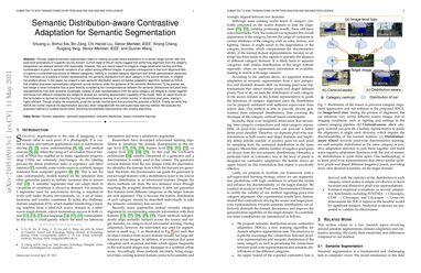 Semantic Distribution-aware Contrastive Adaptation for Semantic Segmentation