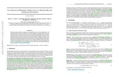 /divelab/ Fast Quantum Property Prediction via Deeper 2D and 3D Graph Networks