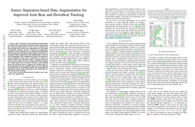 Source Separation-based Data Augmentation for Improved Joint Beat and Downbeat Tracking
