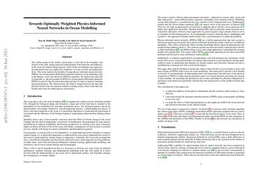 /Inria-Chile/ Towards Optimally Weighted Physics-Informed Neural Networks in Ocean Modelling