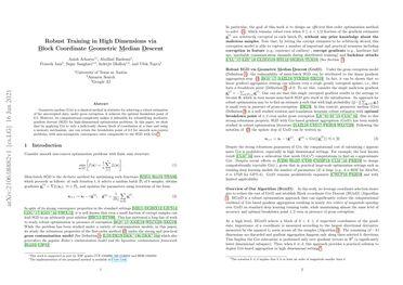 /anishacharya/ Robust Training in High Dimensions via Block Coordinate Geometric Median Descent
