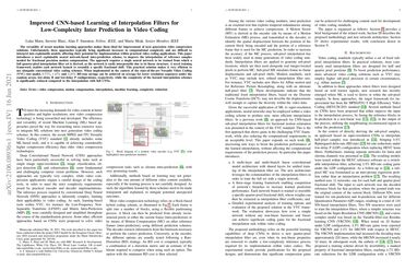 /bbc/ Improved CNN-based Learning of Interpolation Filters for Low-Complexity Inter Prediction in Video Coding
