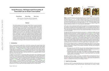 /chiragraman/ Social Processes: Self-Supervised Forecasting of Nonverbal Cues in Social Conversations
