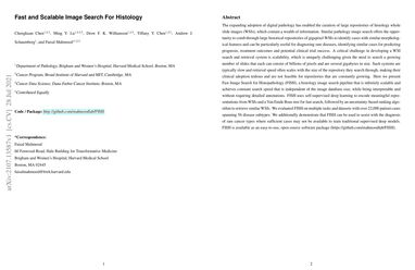 /mahmoodlab/ Fast and Scalable Image Search For Histology