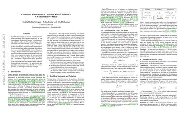 /utahnlp/ Evaluating Relaxations of Logic for Neural Networks: A Comprehensive Study