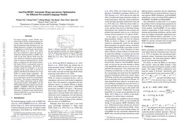 /huawei-noah/ AutoTinyBERT: Automatic Hyper-parameter Optimization for Efficient Pre-trained Language Models
