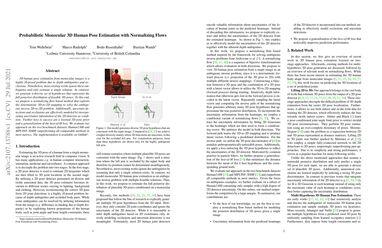 /twehrbein/ Probabilistic Monocular 3D Human Pose Estimation with Normalizing Flows