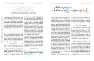 /prerak23/ Blind Room Parameter Estimation Using Multiple-Multichannel Speech Recordings