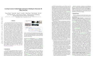 /YinminZhang/ Learning Geometry-Guided Depth via Projective Modeling for Monocular 3D Object Detection
