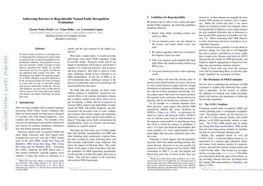 /bltlab/ Addressing Barriers to Reproducible Named Entity Recognition Evaluation