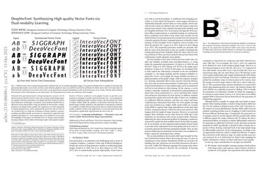 /yizhiwang96/ DeepVecFont: Synthesizing High-quality Vector Fonts via Dual-modality Learning