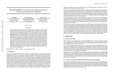 /gkuling/ BI-RADS BERT & Using Section Tokenization to Understand Radiology Reports